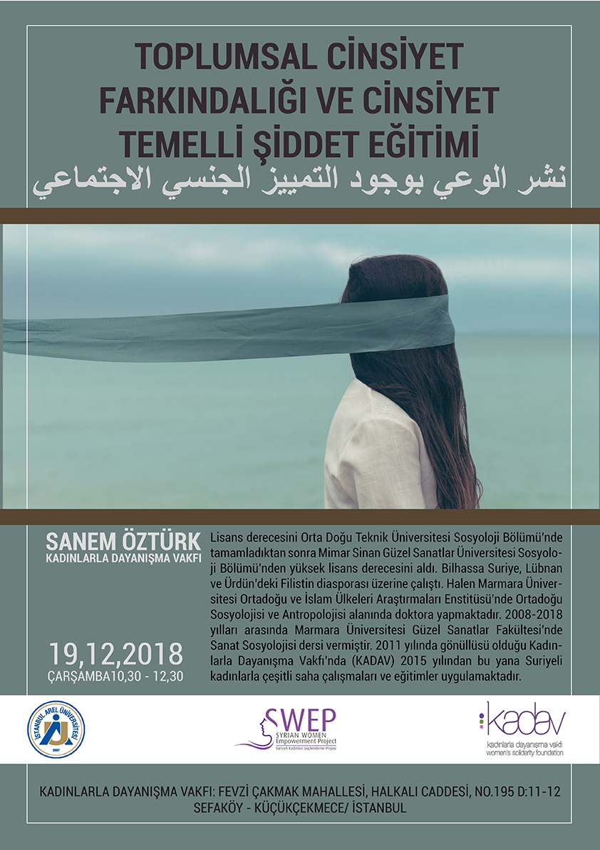 Toplumsal Cinsiyet Farkındalığı ve Cinsiyet Temelli Şiddet Eğitimi